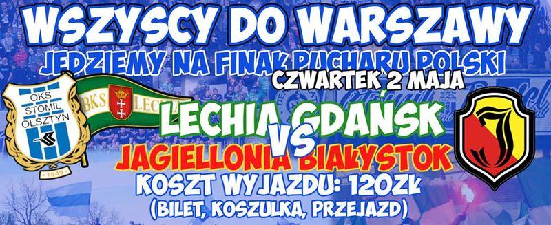 506f37ec9 Wyjazd na Finał Pucharu Polski! Zbiórka w czwartek, 2 maja o godzinie 10: